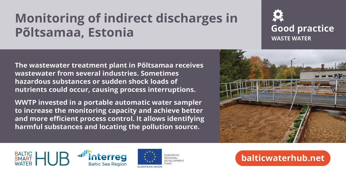 #Interreg projects are so much about sharing good experiences and making them common practice around the #BalticSea. Would you like to learn more of such examples in the topic of #water #management? Attend the final event by @BSRWater! #MadeWithInterreg #BalticWaterHub
