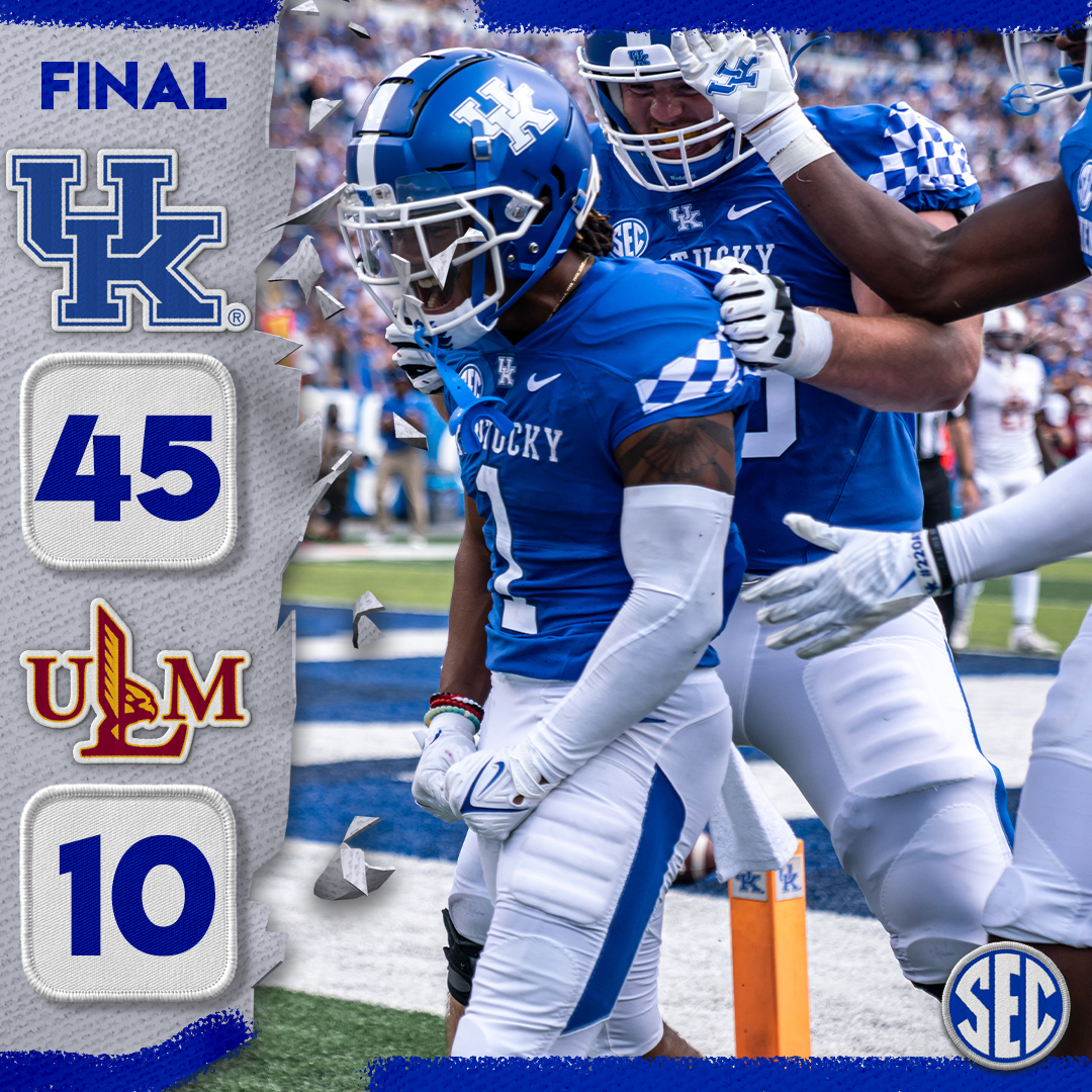 .@UKFootball takes the first @SEC win of the day!