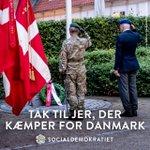 Image for the Tweet beginning: Tak til alle Danmarks udsendte. I