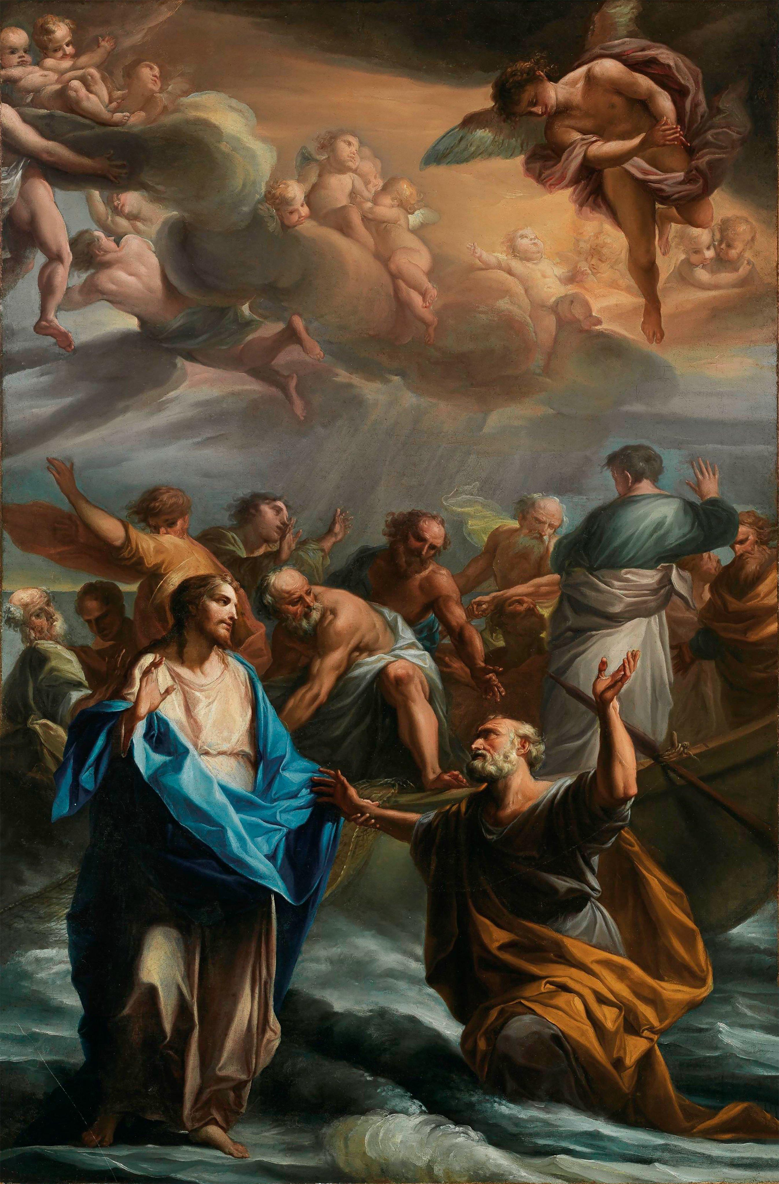 Jesus Cristo e São Pedro