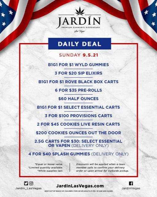These Labor Day Weekend deals at @Jardin_LasVegas demand attention.