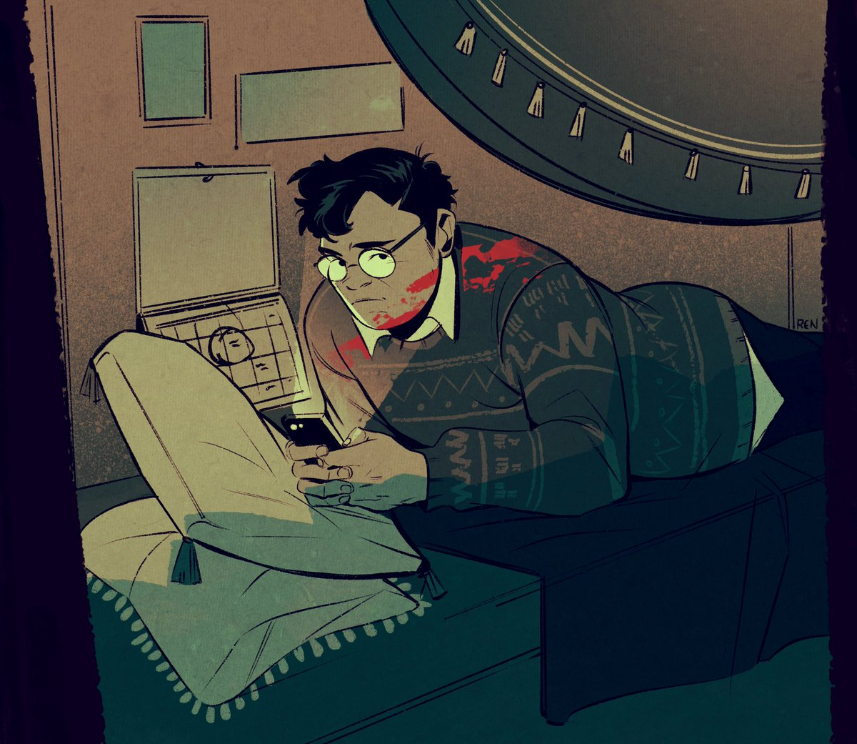 Even vampire slayers have to take a break to check their notifications sometimes #ShadowsFX
