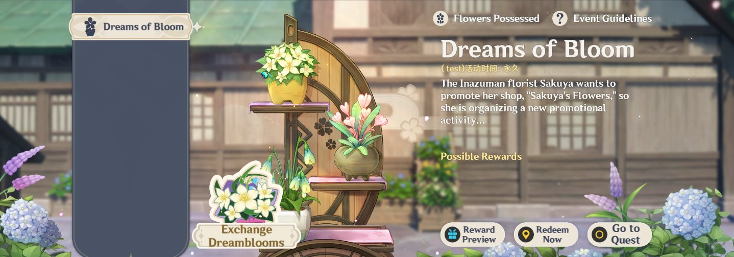 Dreams of Bloom event