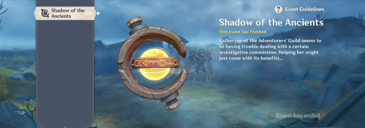 Shadow of the Ancients Event