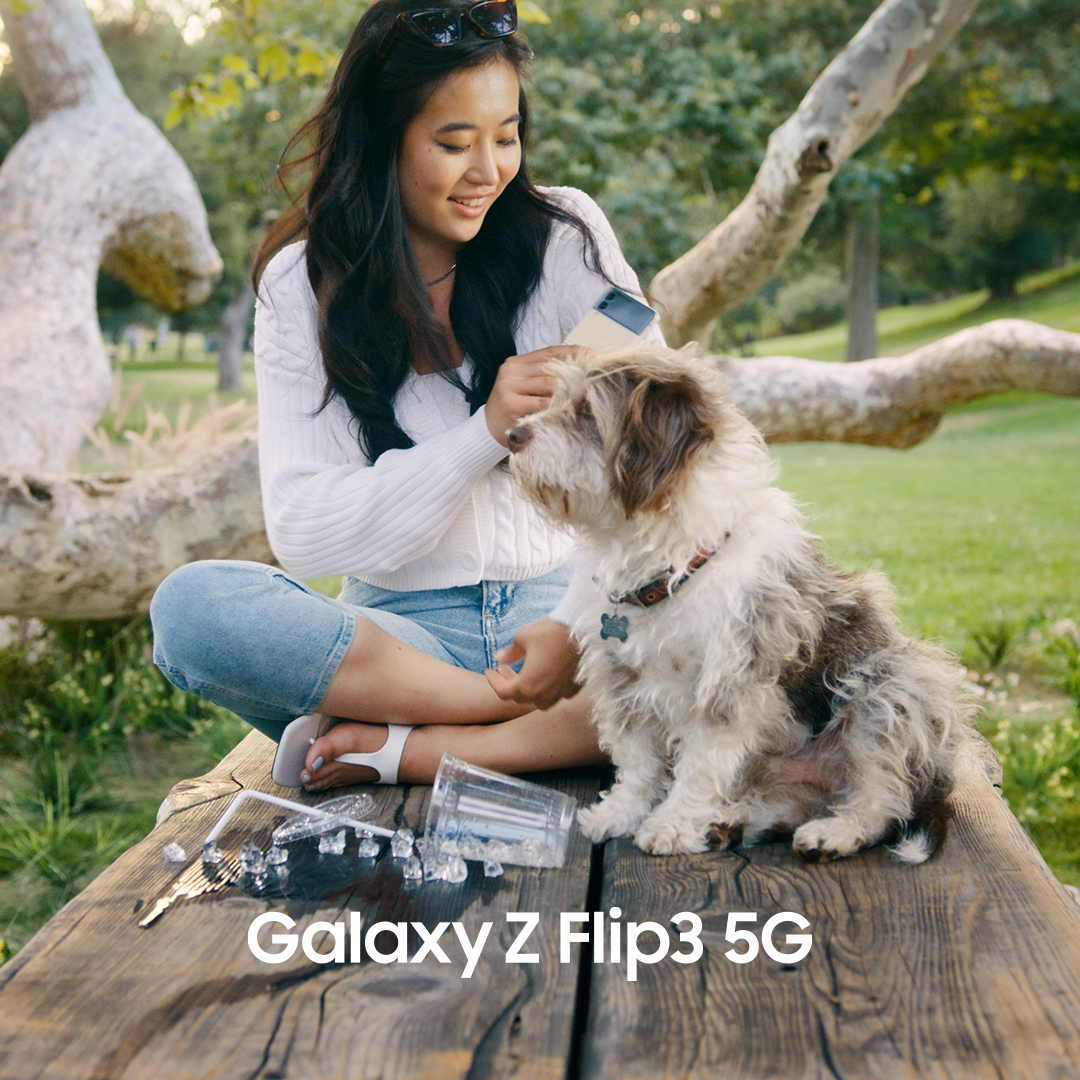 Introducing the Galaxy Z Flip3 5G.  This is the next era of mobile. With one of the first-ever water-resistant foldables, you can feel free to express, connect and share with less worry. Unfold your world.  Learn more: https://t.co/rFk70eQHeH  #GalaxyZFlip3 https://t.co/FLWSVKmX88