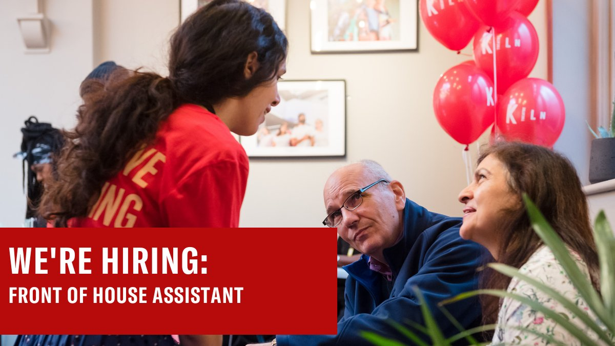 🔊 WE'RE HIRING: Front of House Assistant 🔊 The Front of House team welcome audiences and deliver excellent customer service. Successful applicants will be allocated shifts across various types: theatre usher, cinema usher & also the café & bar. Apply: kilntheatre.com/our-story/jobs/