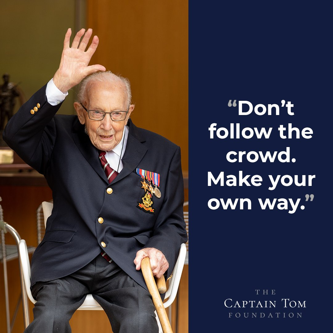 Words to guide your week from Captain Tom. #MondayMotivation