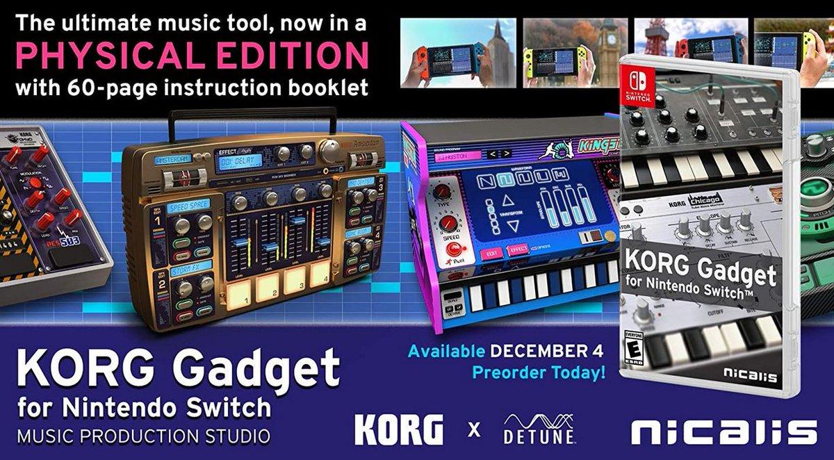 KORG Gadget for Nintendo Switch (S) $30.80 via Amazon (Prime Eligible).