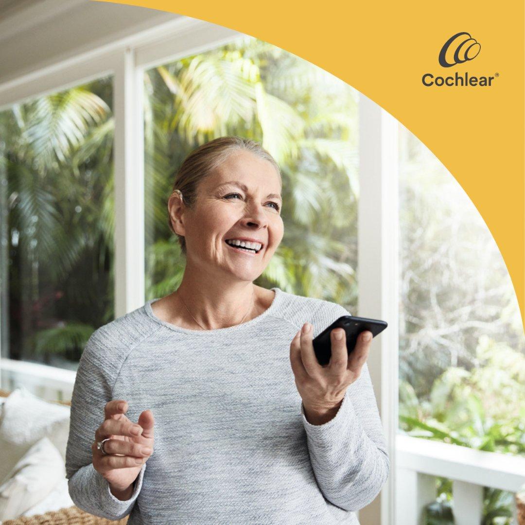 Kennen Sie schon Cochlear™ Remote Check?  Remote Check ist ein praktisches Tool, mit dem Sie Hörtests über Ihr iPhone oder iPod touch bequem zu Hause durchführen können, ohne die Klinik aufsuchen zu müssen.  Erfahren Sie mehr: https://t.co/4SIoLFsZun https://t.co/gIxmPHoH31