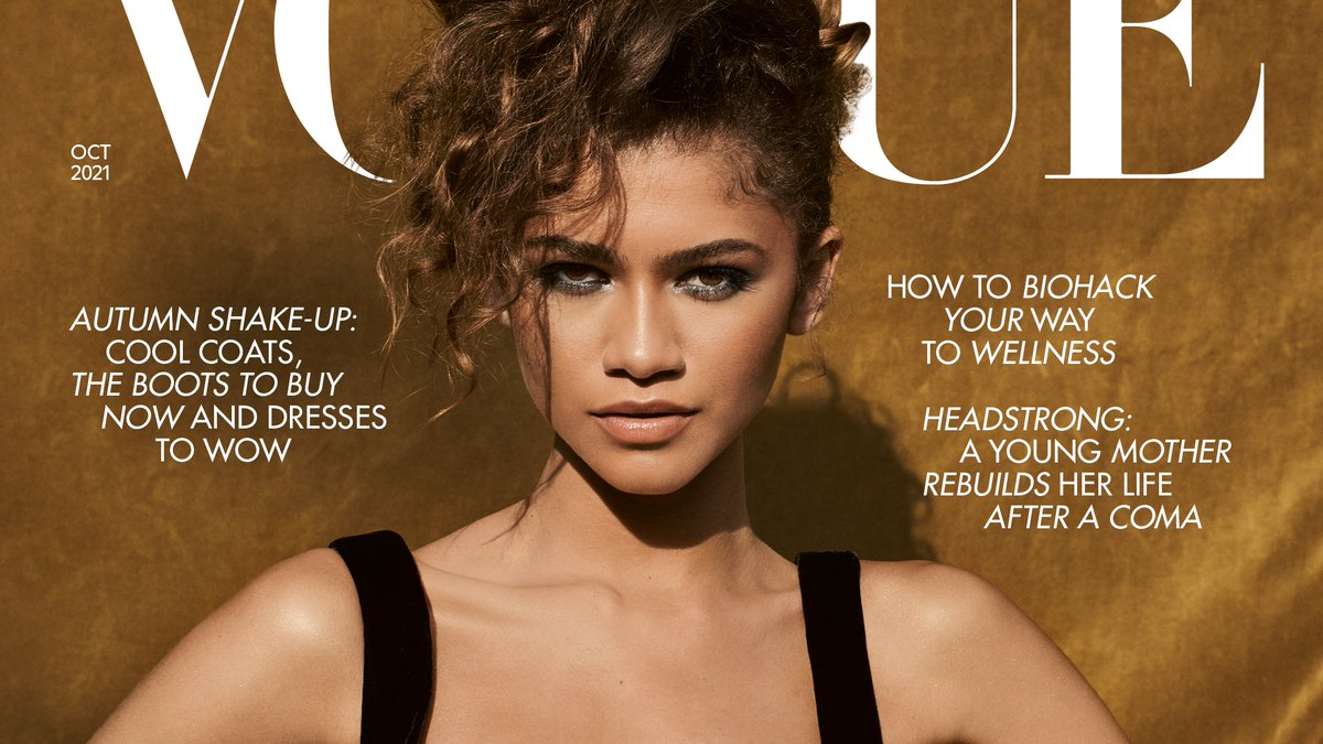 .@Zendaya stars on the October issue cover of British Vogue wearing all @YSL & @Bulgariofficial. Photographed by Craig McDean and styled by @LUXURYLAW. Read the interview in full: