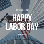 Image for the Tweet beginning: Happy Labor Day to all