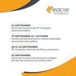 Image for the Tweet beginning: #AgendaAndigraf Septiembre   Agéndate con