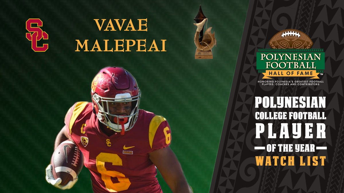 Just added to the 2021 Polynesian College Player of the Year Award Watch List... @USC_FB RB Vavae Malepeai polynesianfootballhof.org/releases/2021-…