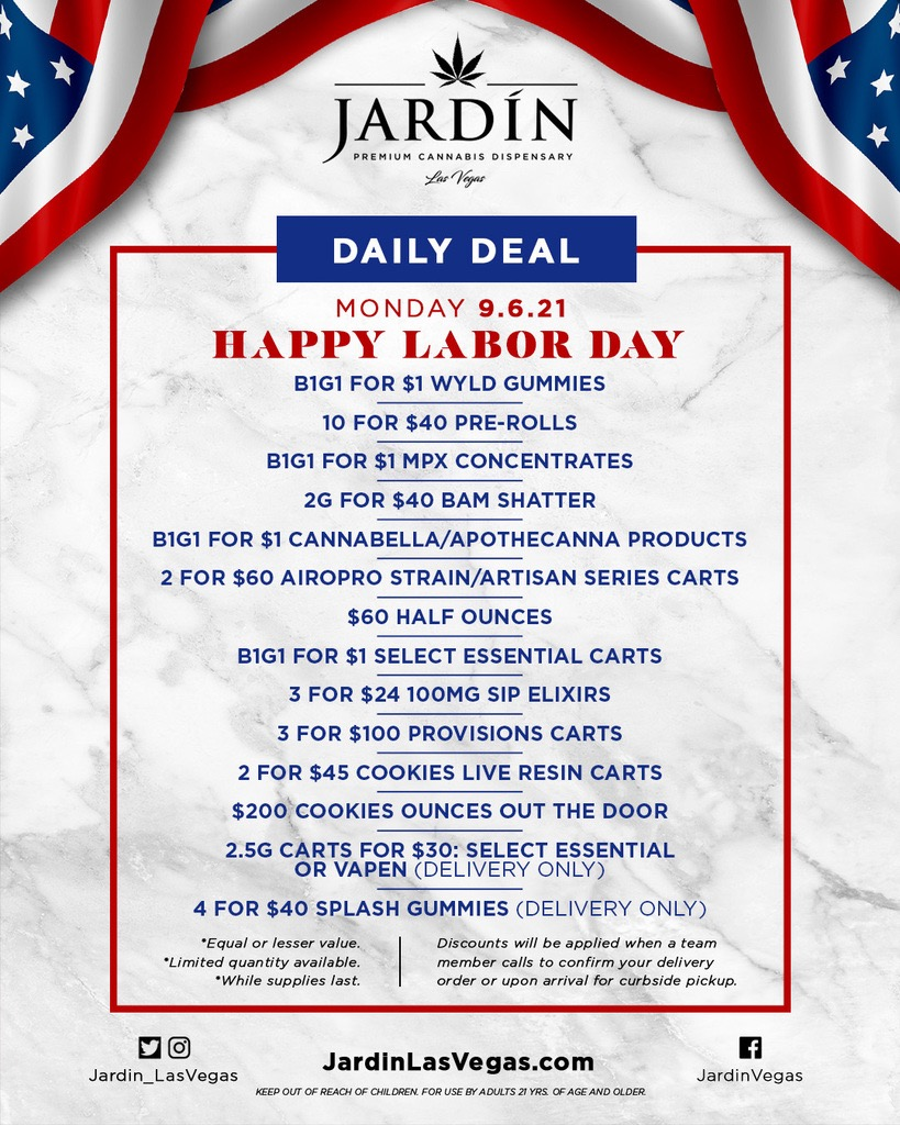 Shout out to @Jardin_LasVegas for making every holiday weekend better! (They have $100 ounces too 🤫)