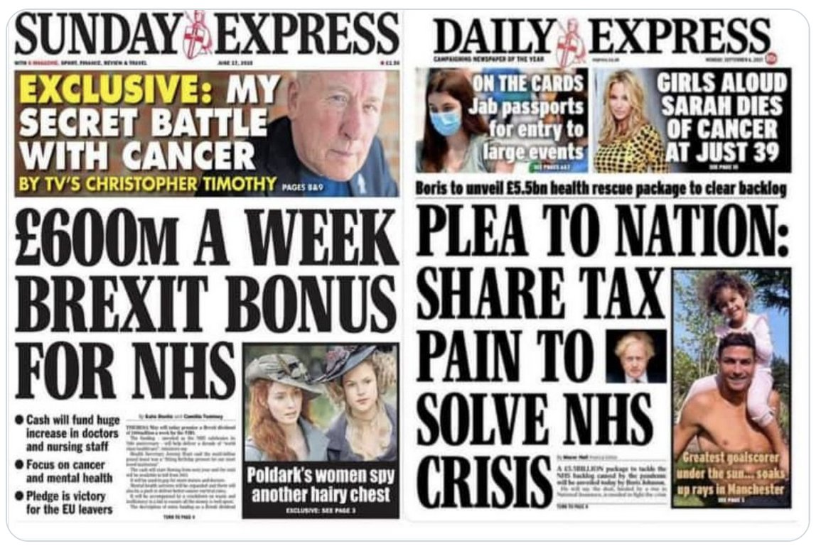 Will the proprietors of the @Daily_Express (Trinity Mirror) @DailyMailUK and @Telegraph be willing to share the #BrexitTax pain – or will they continue to hide their wealth in offshore tax havens?