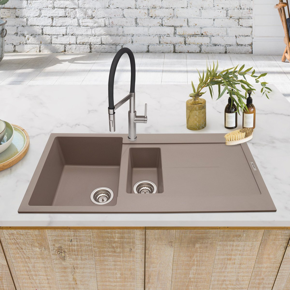 NEW! Have you seen our new Mink granite sink? Not only is granite a great robust material for a much-used kitchen sink, but our granite range is also available in a variety of sizes and styles & colours! View the collection here: buff.ly/3h0C122 #CapleQuality #Sink