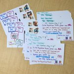 Image for the Tweet beginning: 📬 40 #PostcardsToVoters sent to