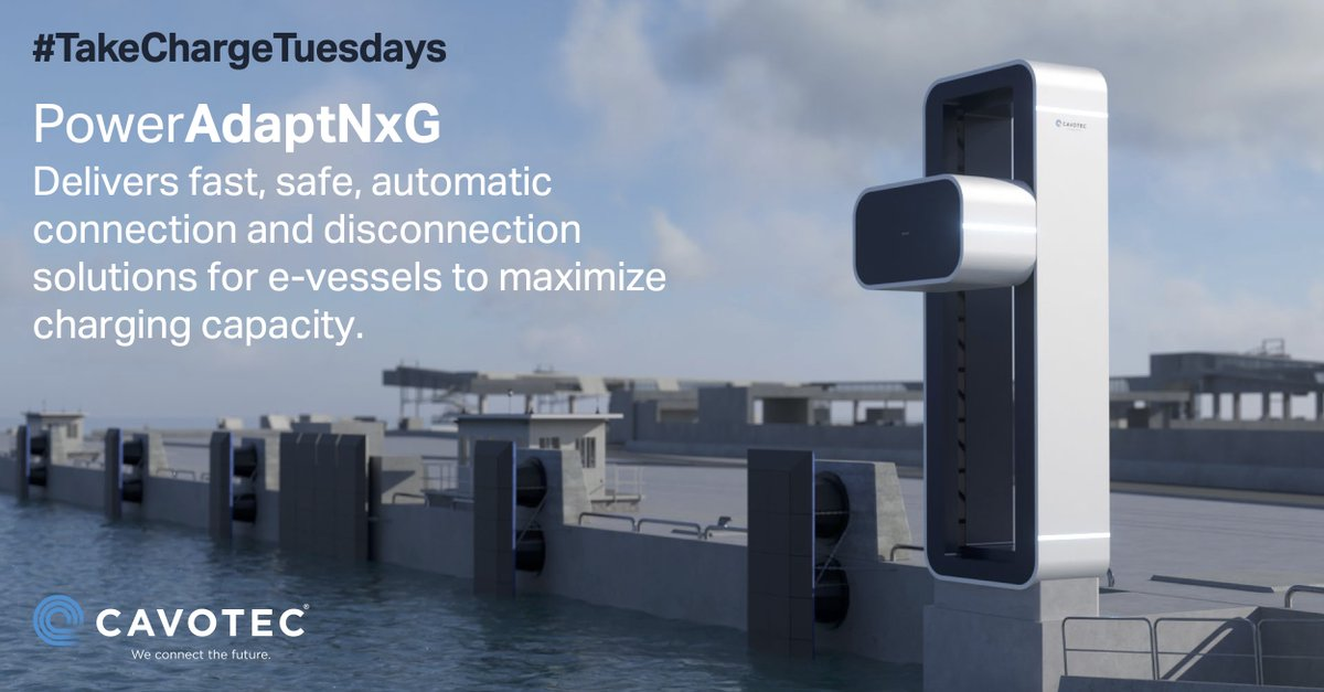 PowerAdaptNxG delivers fast, safe, automatic connection and disconnection solutions for e-vessels to maximize charging capacity. Details at: https://t.co/8eXZ0Xrcoz   #maritime #cleantech #maritimeindustry #shorepower  #sustainableInfrastructure #TakeChargeTuesdays #ports #ferry https://t.co/bVoRP9aJ2O