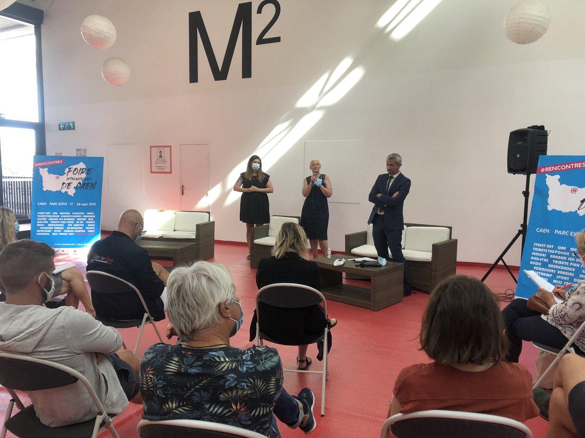 La Conférence de presse de la #FoiredeCaen a actuellement lieu sur la mezzanine du Hall 2.  #FoiredeCaen #rencontre #musique #beauté #sports #streetart #presse https://t.co/uoEFwdig83