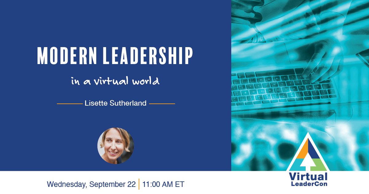 Join me at The @KevinEikenberry Group's Virtual LeaderCon where I'll be talking about Modern Leadership in a Virtual World. You don't want to miss it! → Join me for the Virtual LeaderCon ed.gr/dmlkk