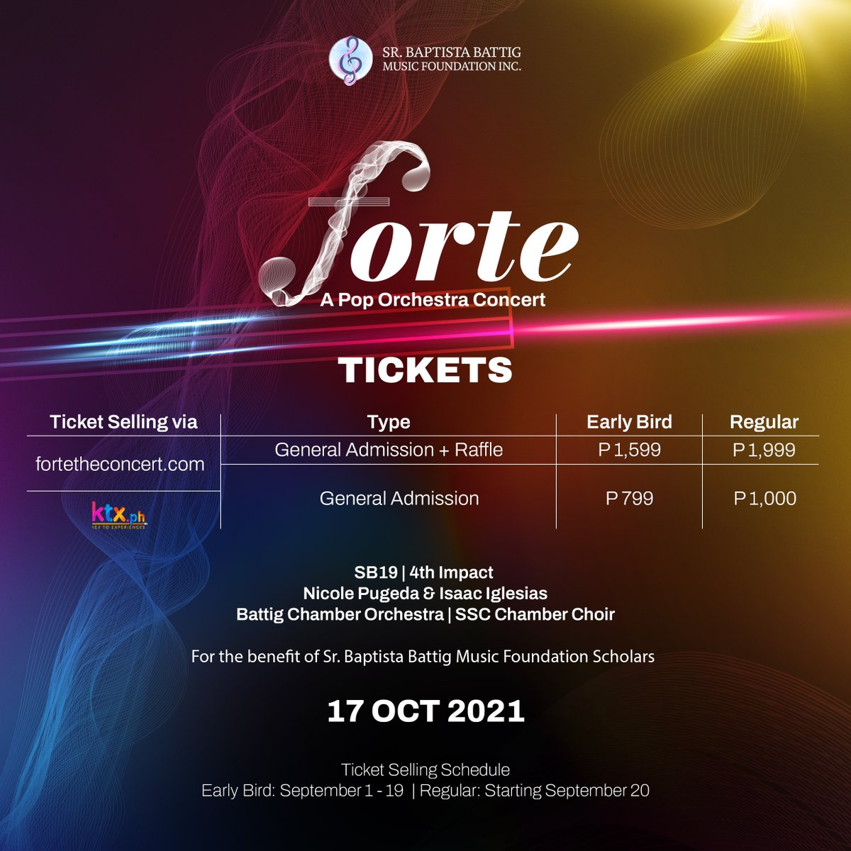 """SB19 Official 🇵🇭 on Twitter: """"Forte: A Pop Orchestra Concert tickets are  now available! Catch us perform our songs live with an orchestra for the  first time plus a special collaboration performance."""