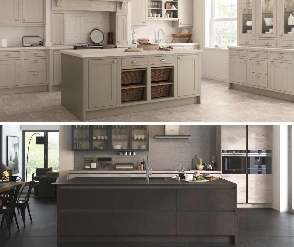 Torn which style of kitchen to go for? Traditional kitchens offer the luxurious appeal of a warm and homely feeling offering character and depth in the design. Contemporary kitchens capture the stylish and sleek interior architecture presence offering a super modern finish.