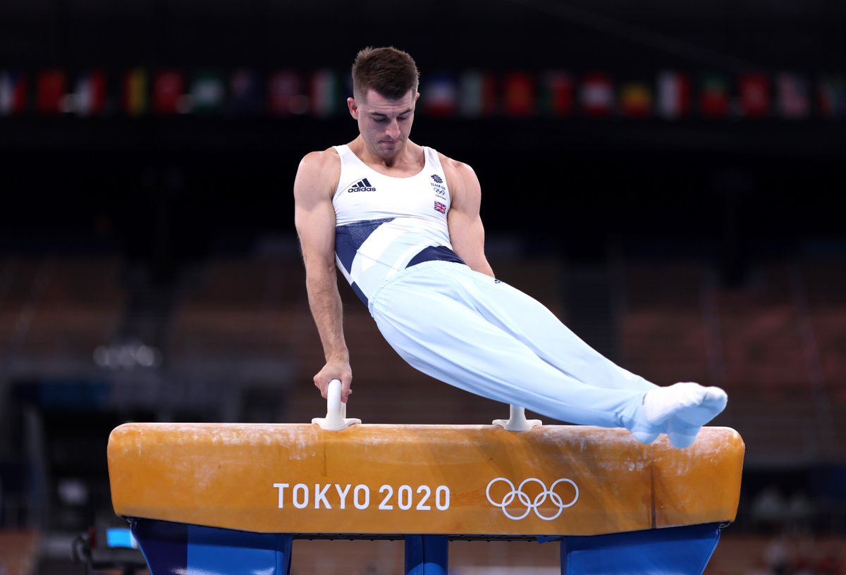 Rio 2016 🥇 Tokyo 2020 🥇 @maxwhitlock1became the first man since Zoltán Magyar in 1980 to retain an Olympic pommel horse crown.