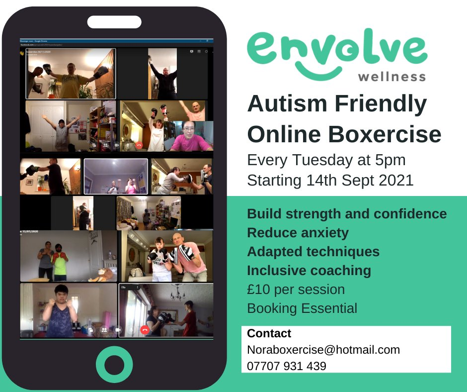 test Twitter Media - Envolve Wellness are starting Family Boxercise SEN classes back up next week, Solihull on 13th Sep, online on 14th Sep and kings heath on 16th Sep. https://t.co/0ns5SW0Bfj
