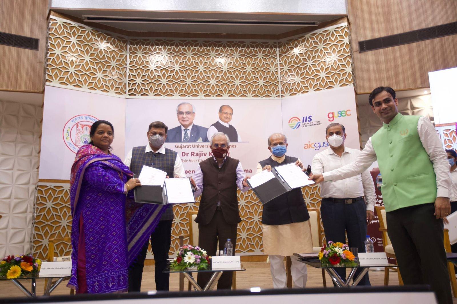 कृषि के क्षेत्र में सहयोग को बढ़ावा देने के लिए नीति आयोग और गुजरात विश्वविद्यालय ने आशय पत्र पर हस्ताक्षर किए