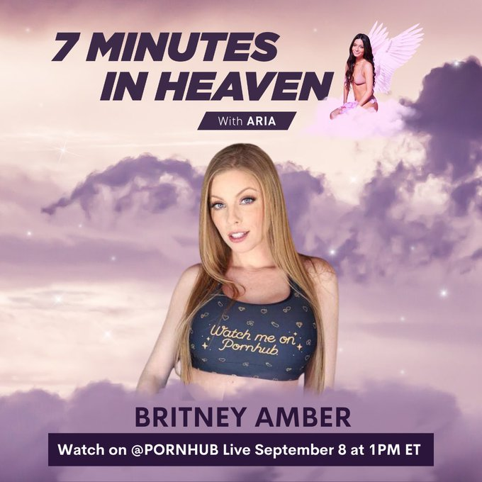 """Tune in tomorrow for my """"7 Minutes In Heaven"""" with @britney_amber on Pornhub's Instagram Live at 1pm"""