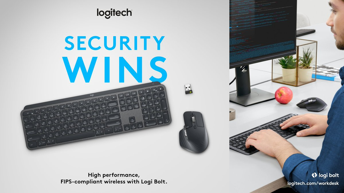 🔒 Secure connections only. 🔒 Engineered for your team's #enterpriseIT needs, #LogiBolt is FIPS-compliant secure connections only mode, offering a robust and reliable wireless performance. logi.link/x84kfz