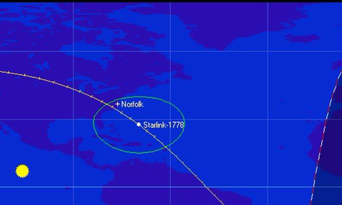 Starlink-1778 reentry