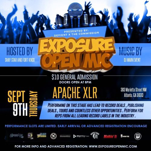 This Thursday in Atlanta @exposureopenmic returns to @apachecafe !!! Music execs including @BRich404 will be in the building. For registration info email weworkmusic@gmail.com