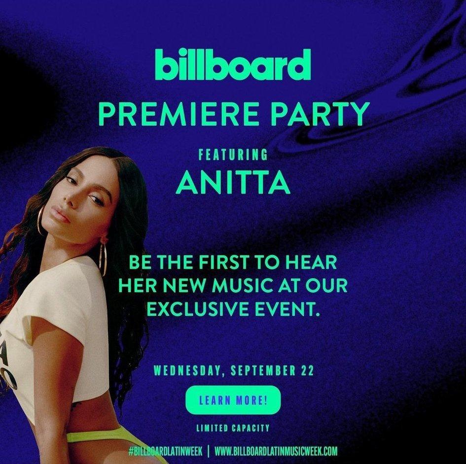 Billboard promove evento exclusivo para lançar novo single de Anitta; confira data
