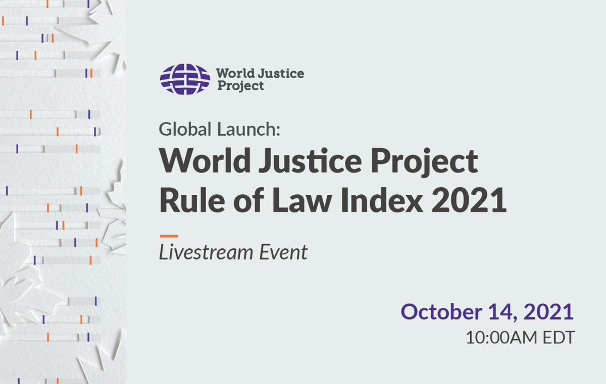 Coming soon: The World Justice Project is releasing its index of changes to the rule of law in 139 countries during Covid. #DemocracyDay #InternationalDayofDemocracy  Register now! 👇