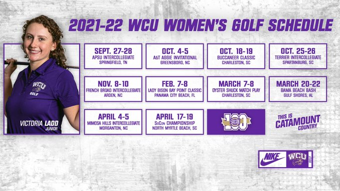 2021-22 Women's Golf Schedule