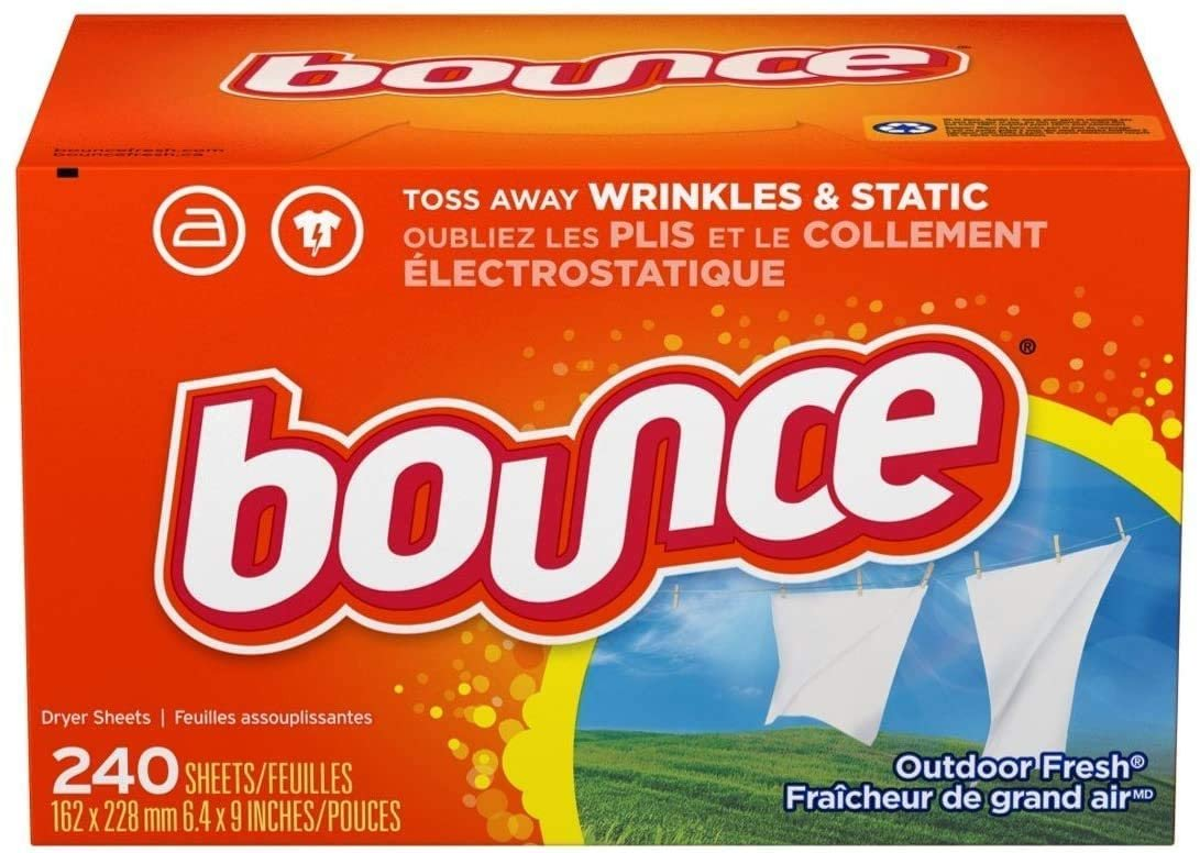Bounce Dryer Sheets Laundry Fabric Softener, Outdoor Fresh Scent, 240 Count  Only $5.99!!