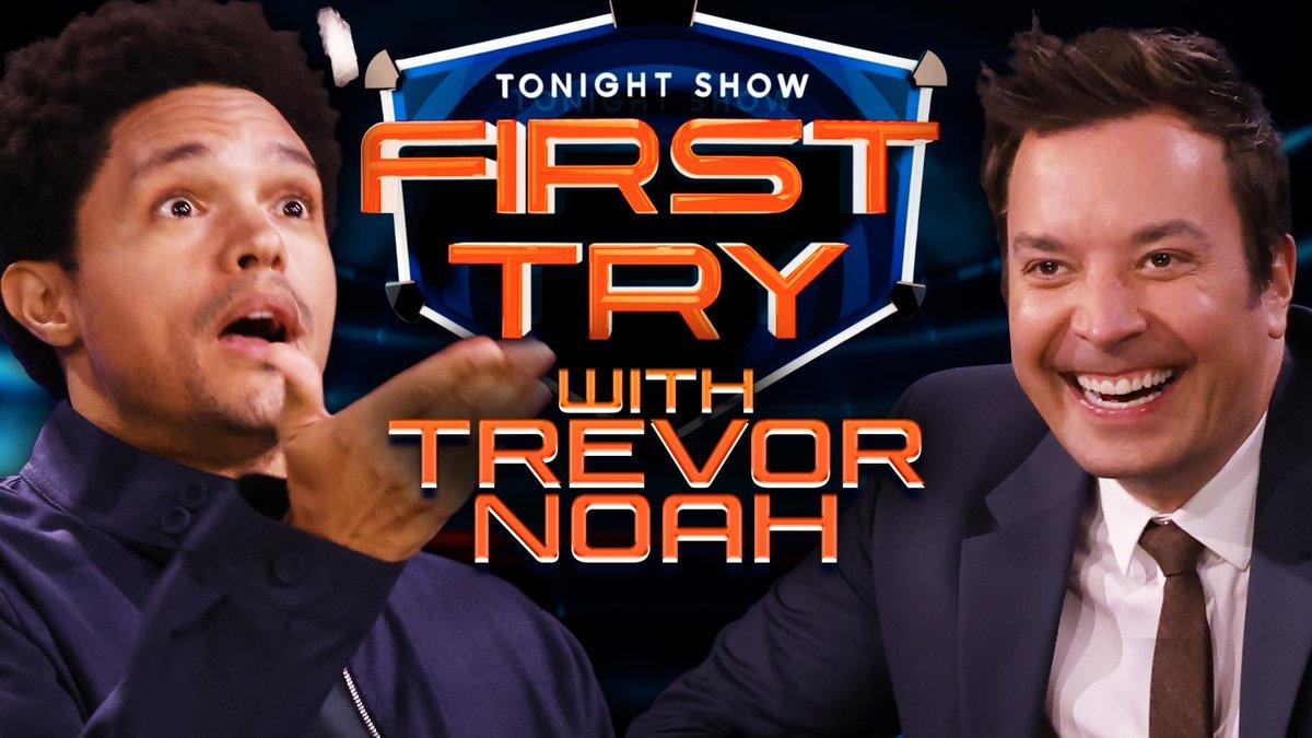 It's Jimmy vs. @Trevornoah in a water bottle flip showdown. #FallonTonight https://t.co/Ve8fEwfcSh