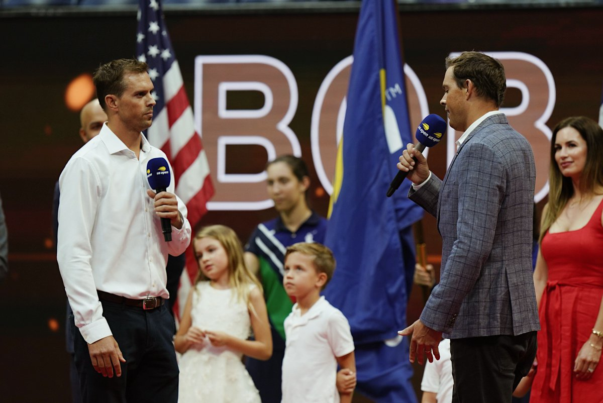 Salute to the 🐐s Bob and Mike Bryan were honored on court in Ashe for their legendary careers.