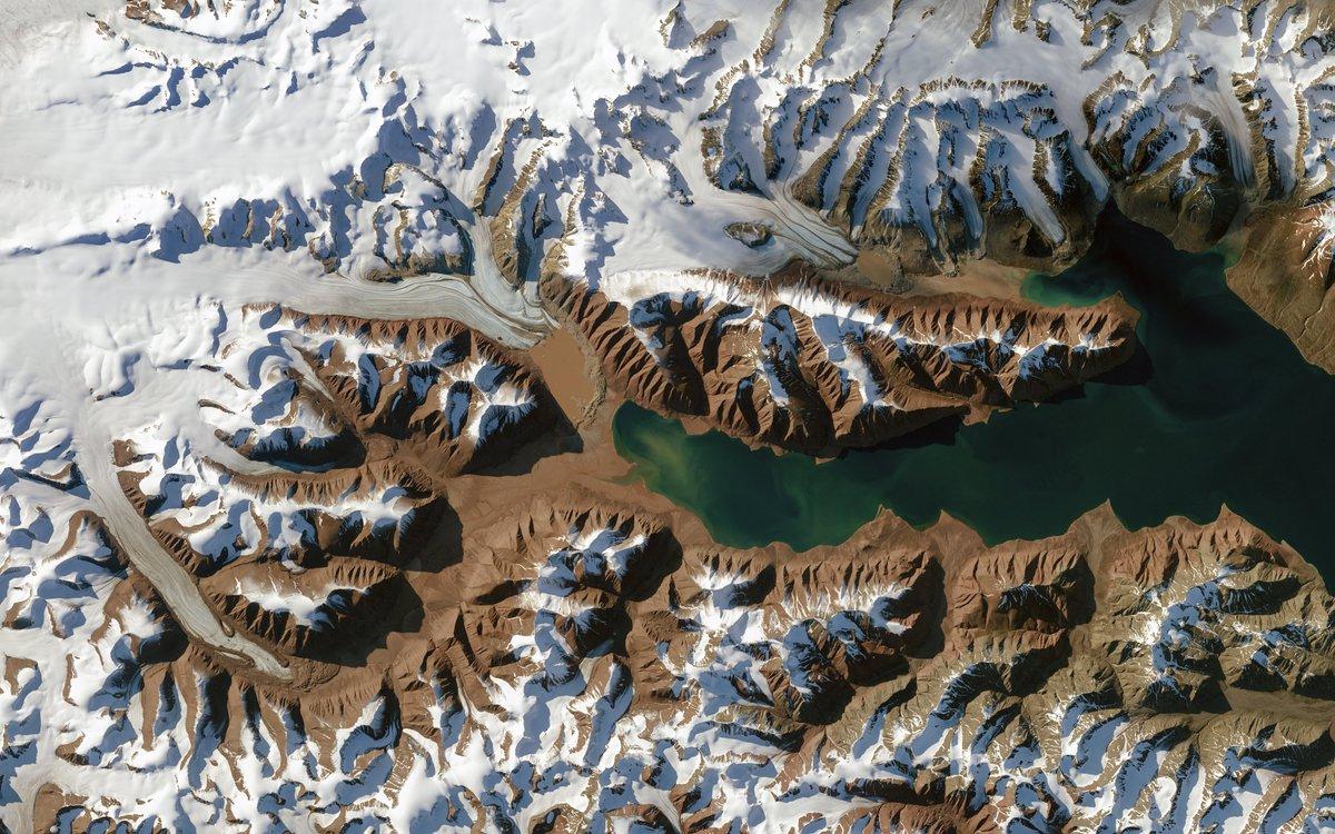 Svalbard via @NASA_Landsat today.