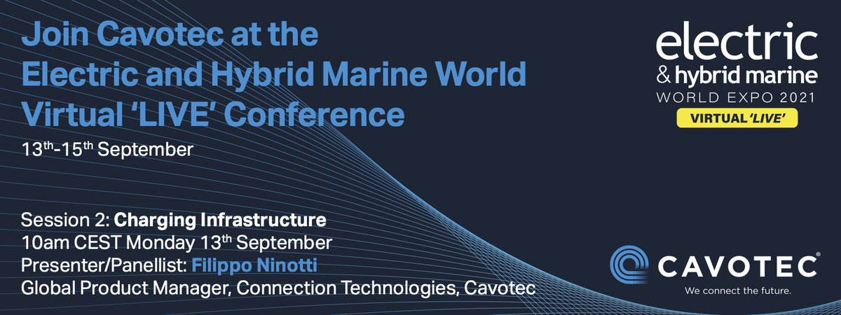 At next week's @EHMWExpo, Filippo Ninotti, our Global Product Manager for Connection Technologies, will speak about the future of #maritime charging infrastructure. Register for free at: https://t.co/eOL5fEHdjI  #EHMWExpo #maritimeindustry #marineengineering #shorepower https://t.co/PMNUdgmuyJ