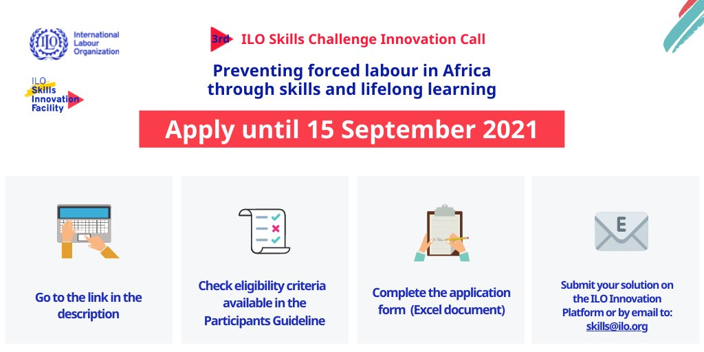 2 days to go!!! Thank you for sharing this opportunity to fight #ForcedLabour in Africa through skills and lifelong learning with anyone why you think might be interested. #FutureWithoutForcedLabour #EndModernSlavery