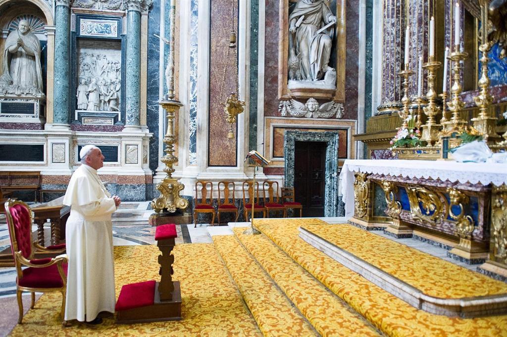 Francisco y la Virgen