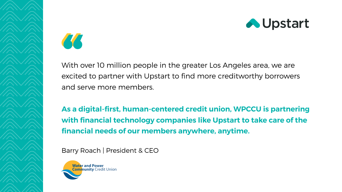 test Twitter Media - We are excited to partner with @wpccu to help expand their membership while reaching more creditworthy borrowers through an all-digital, AI-powered experience.  Welcome @wpccu to the @Upstart Referral Network!  #fintech #ailending https://t.co/lvFUhmiej4