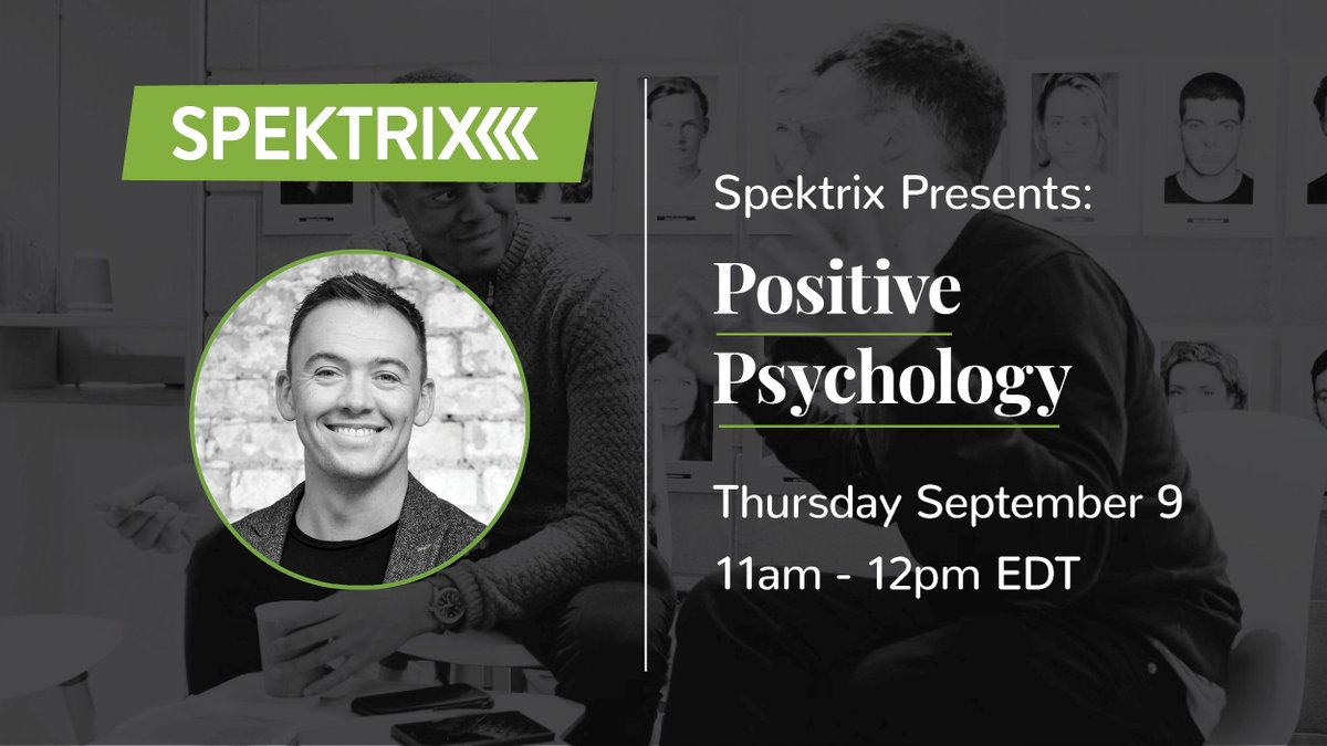 """""""A bad meeting can lead to a bad day and a bad week…"""" Find the gamechangers that can flip your mindset in Spektrix Presents: Positive Psychology, this time tomorrow! Register now: bit.ly/38M1rMs"""