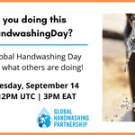 Image for the Tweet beginning: Are you celebrating #GlobalHandwashingDay? Join