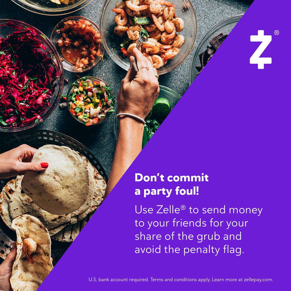 Did you show up to the game party empty handed? 🏈🍿🍕 bddy.me/38PKzEp #SendWithZelle
