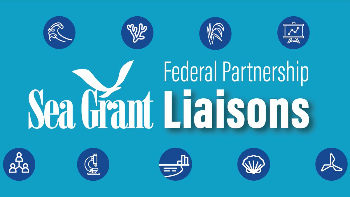 Exciting announcement on new federal partnership liaisons across the Sea Grant network. We're looking forward to all the great projects and ideas that will come out of these positions. Congratulations especially to our neighbors @rhodeislandsg and @ctseagrant for championing two!