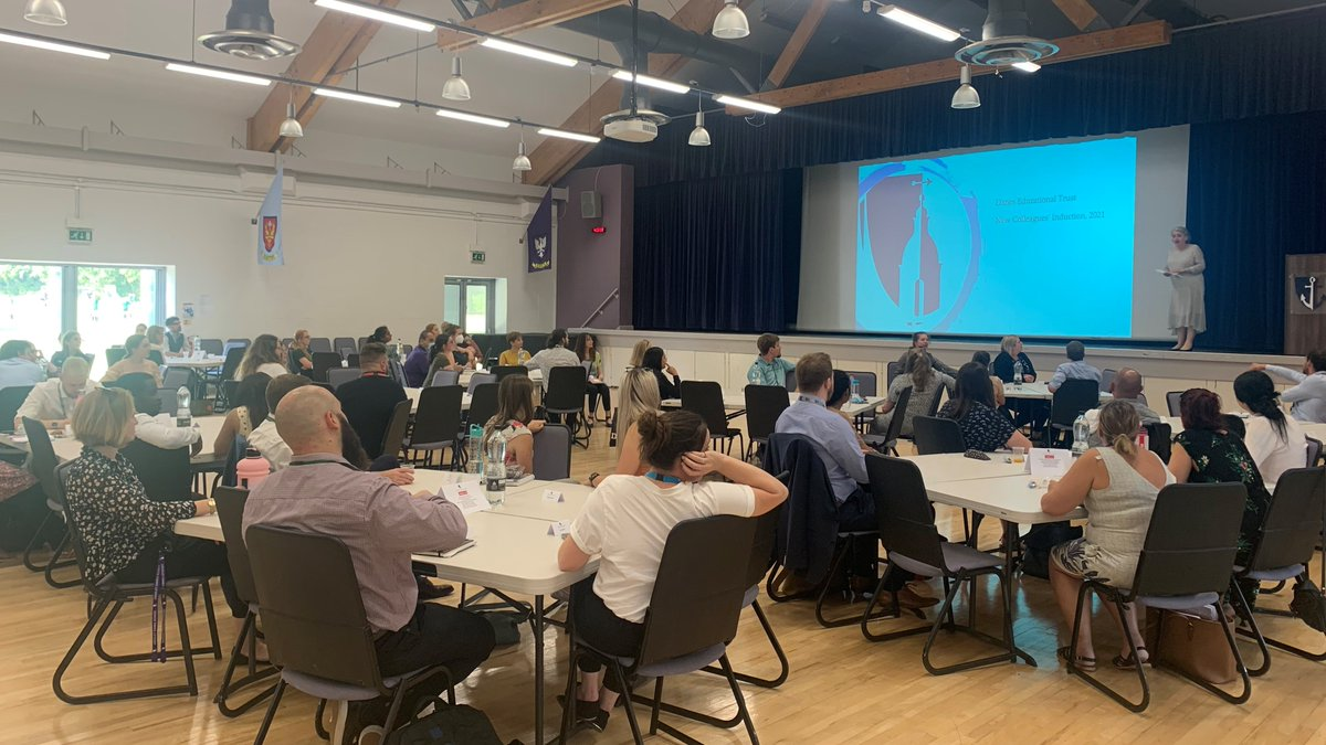 Overjoyed to host our first live cross-trust induction, welcoming over 70 colleagues from our nine schools. CEO Josie Valentine's opening address reminds us of our responsibility to inspire and create joy #makingthedifferencetogether https://t.co/CvKhgVSjxg