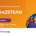 Image for the Tweet beginning: #Aspire2STEAM, a scholarship and mentorship
